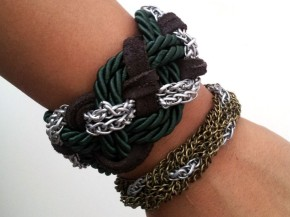 DIY Braided Chain Bracelet