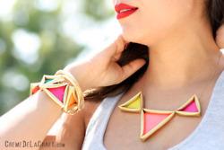 DIY Neon PyramidNecklace